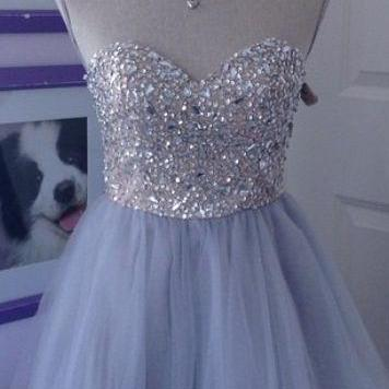 Beaded Prom Dresses, Short Homecomi..
