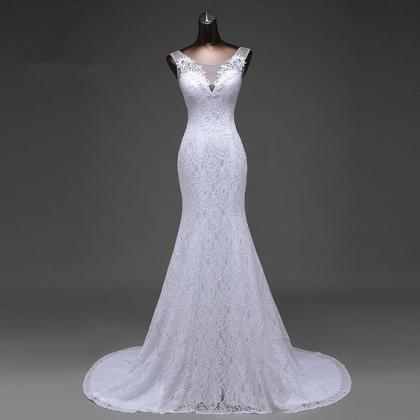 Mermaid Wedding Dresses,Lace Appliq..