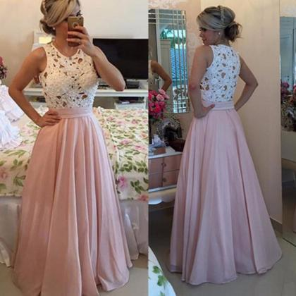 Lace Prom Dress,A Line Evening Dres..