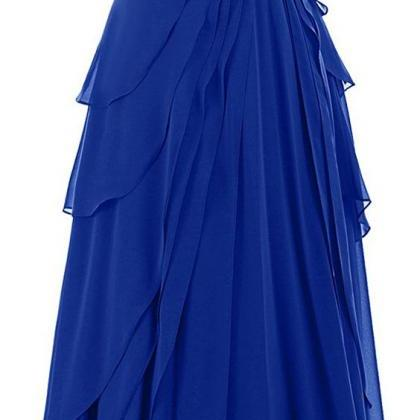 Royal Blue Prom Dress,Bodice Prom D..