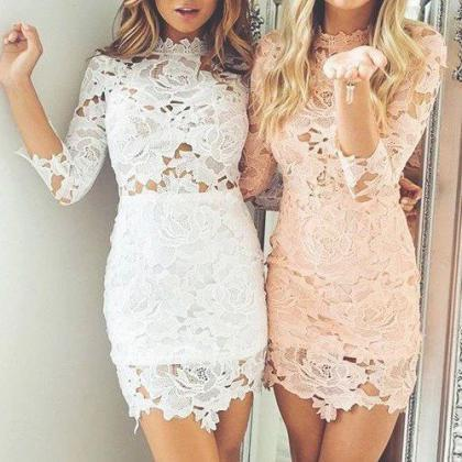 Floral Prom Dress,Bodycon Prom Dres..