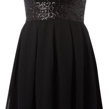Strapless Prom Dress,Sequins Prom D..