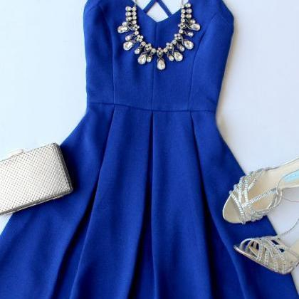 Spaghetti Prom Dress,Royal Blue Pro..