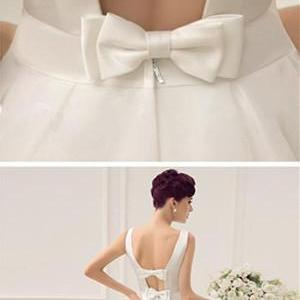 White Prom Dress,Backless Prom Dres..
