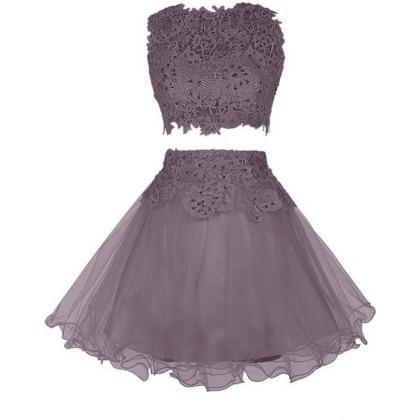 Lace Prom Dress,Two Pieces Prom Dre..