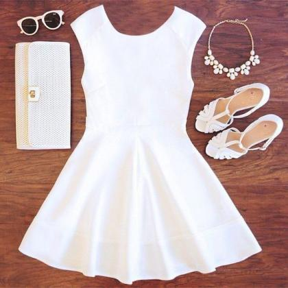 Charming Prom Dress,White Prom Dres..