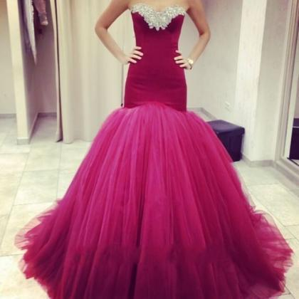 Beaded Prom Dress,Sweetheart Prom D..