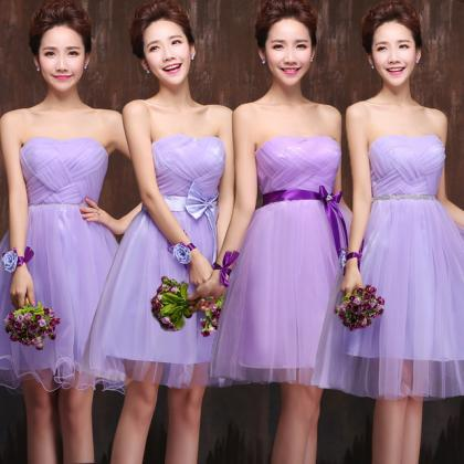 Purple Prom Dress,Strapless Prom Dr..