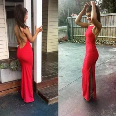 Red Prom Dress,Backless Prom Dress,Sheath Prom Dress,Fashion Prom Dress,Sexy Party Dress, New Style Evening Dress
