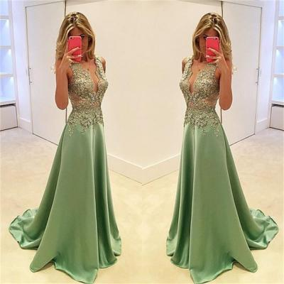 Deep V Neck Prom Dress,Lace Prom Dress,Bodice Prom Dress,Fashion Prom Dress,Sexy Party Dress, New Style Evening Dress