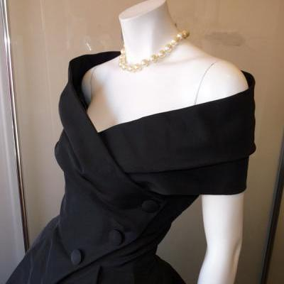Black Prom Dress,Off The Shoulder Prom Dress,Bodice Prom Dress,Fashion Prom Dress,Sexy Party Dress, New Style Evening Dress
