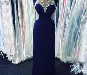 Navy Blue Prom Dress..