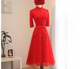 Red Beaded Prom Dres..