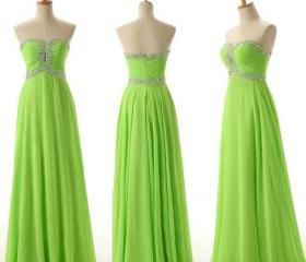 Green Prom Dress,Seq..