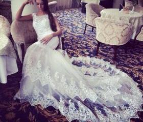 Lace Prom Dress,Shor..