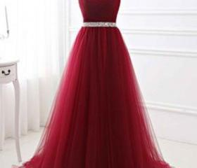 Red tulle sweetheart..
