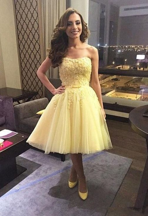 e0db070bff3 Yellow Prom Dress