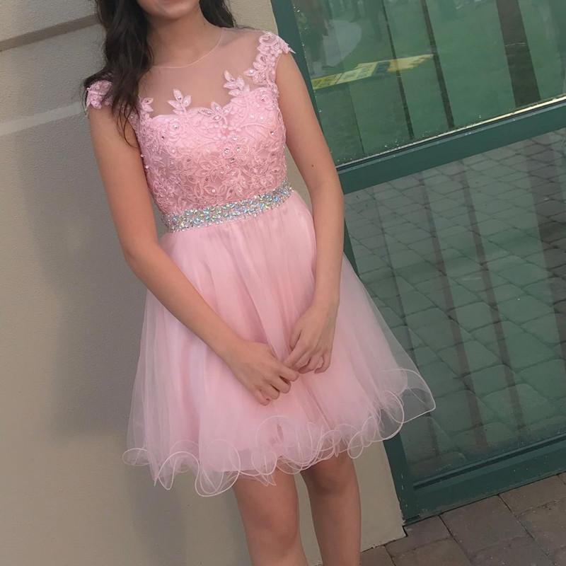 Pretty Lace Appliques Tulle Ruffles Homecoming Dress, Fashion Homecoming Dress,Short Prom Dress