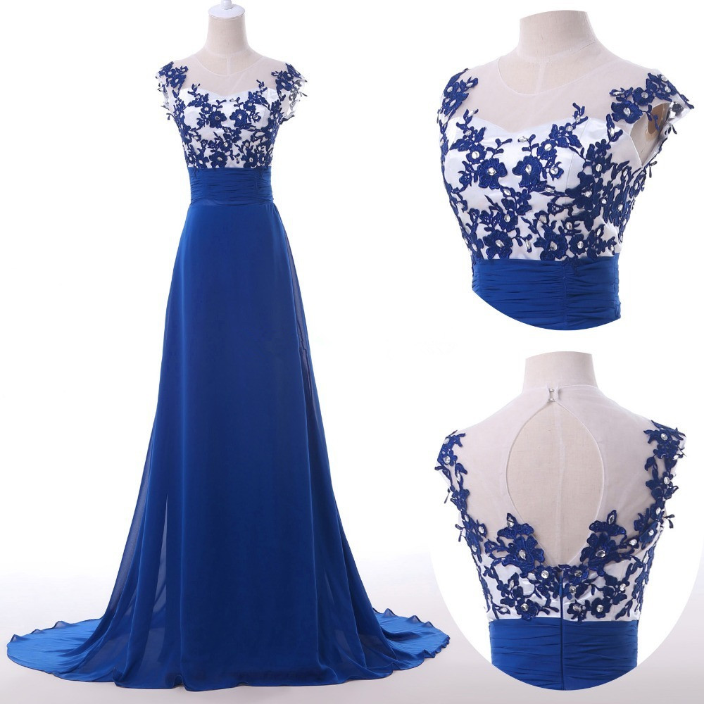 7ab97e3532d Floor Length Lace Prom Dress
