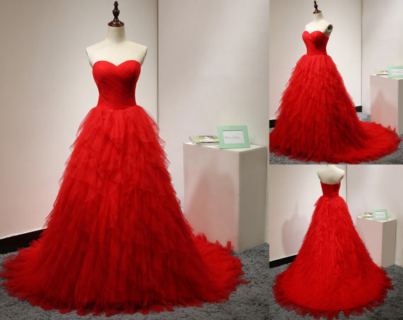 Modest Quinceanera Dress,Sweetheart Ball Gowns,Layered Tulle Party Dress,Fashion Prom Dress,Sexy Party Dress, New Style Evening Dress