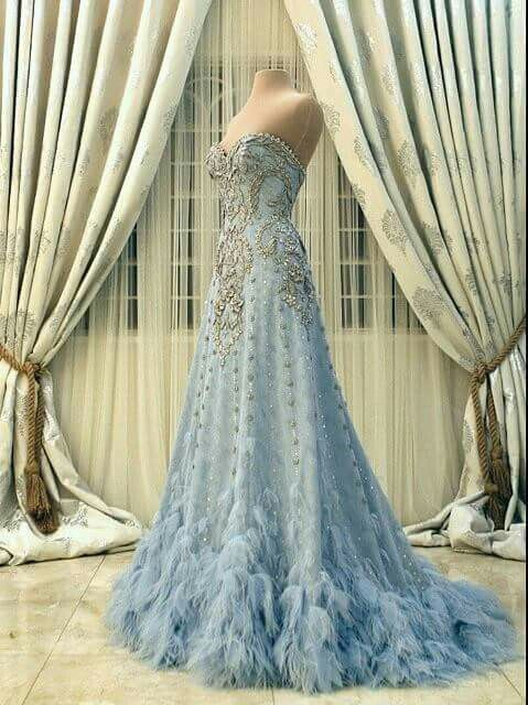 Generous Prom Dress,Celestial Blue Prom Dress,Quinceanera Prom Dress,Fashion Prom Dress, Cheap Party Dress, 2017 Evening Dress