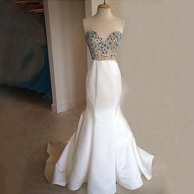 Sweetheart Prom Dress,Beaded Prom Dress,Mermaid Prom Dress,Fashion Prom Dress,Sexy Party Dress, 2017 New Evening Dress