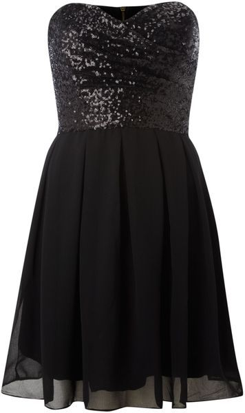 Strapless Prom Dress,Sequins Prom Dress,Black Prom Dress,Fashion Homecomig Dress,Sexy Party Dress, New Style Evening Dress