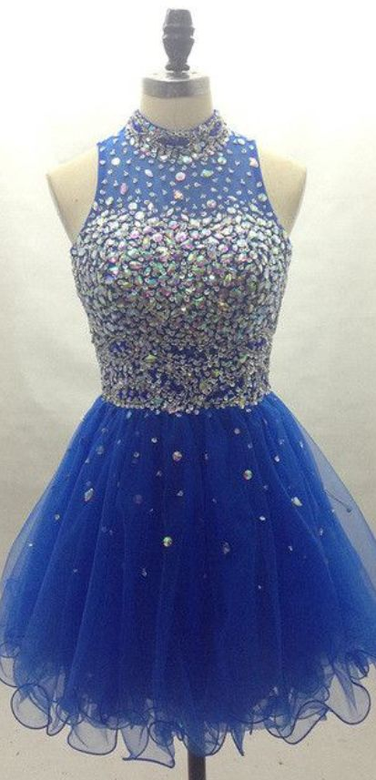 Halter Prom Dress,Beaded Prom Dress,Mini Prom Dress,Fashion Homecoming Dress,Sexy Party Dress, New Style Evening Dress