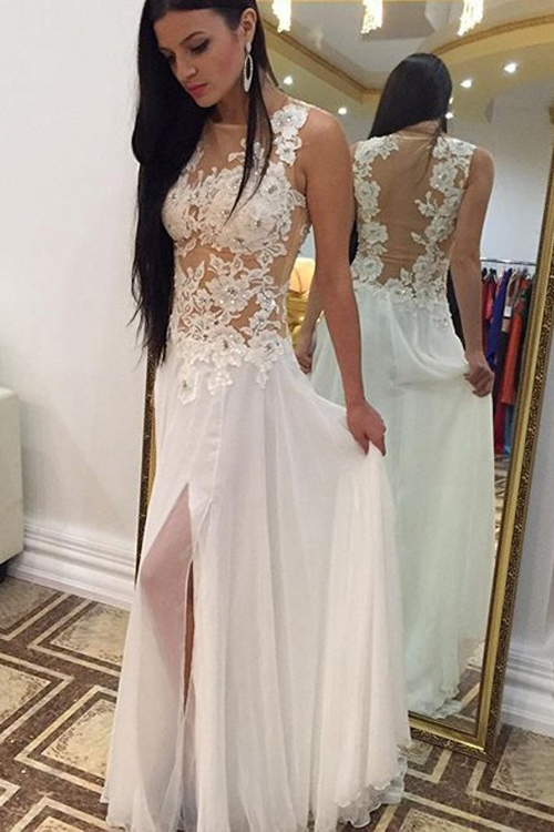 3cdc4dcd5 White Prom Dress