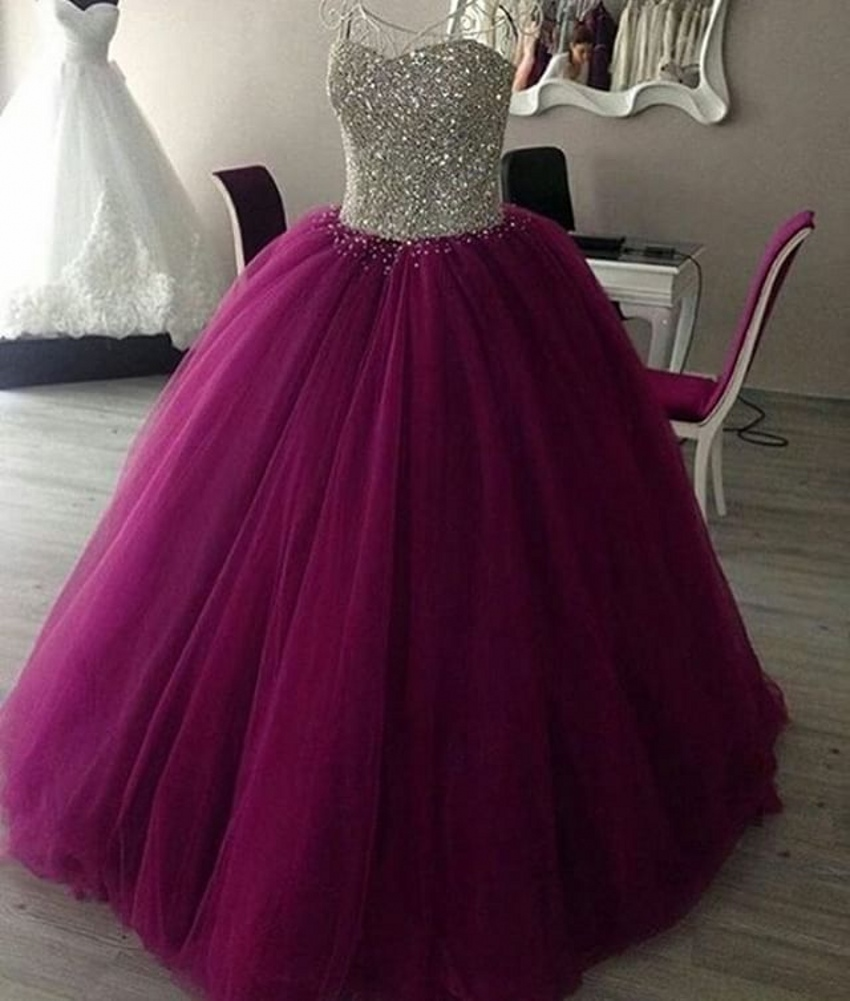 Modest Quinceanera Dress,Sweetheart Ball Gown,Illusion Prom Dress ...