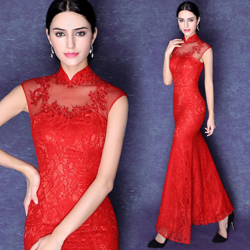 e24e04c63 Lace Prom Dress,Mermaid Prom Dress,Red Prom Dress,Fashion Prom Dress ...
