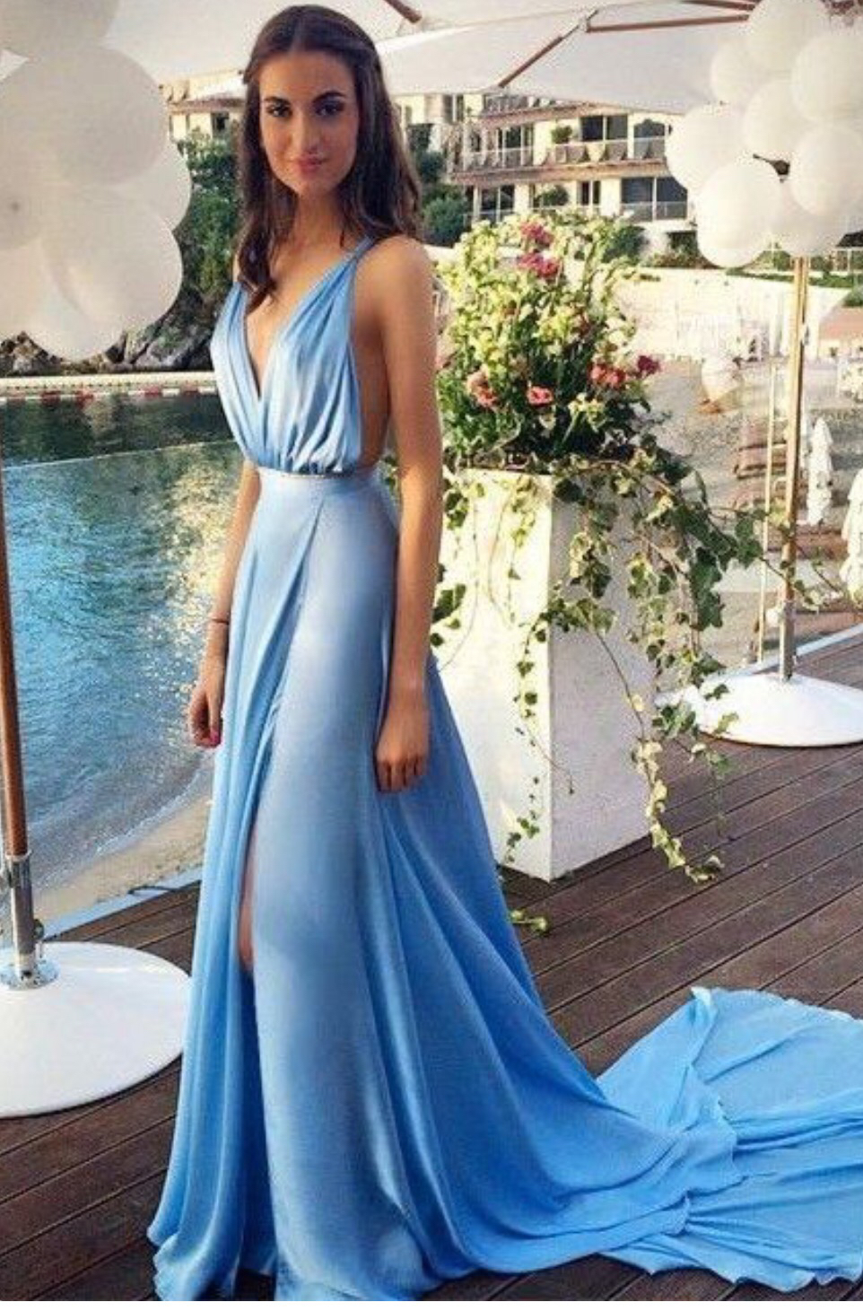 Deep V Neck Prom Dress e5e3d4ef9