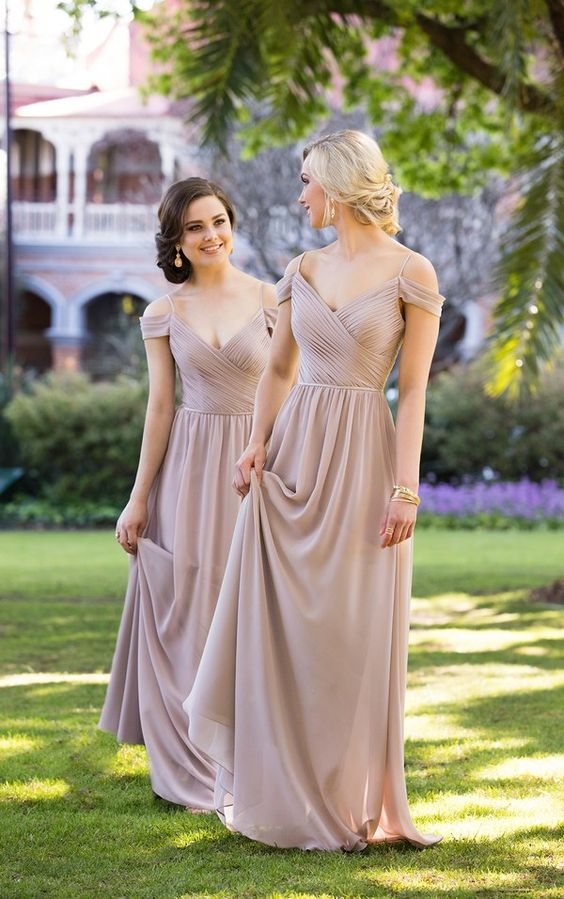 ff9971662c4720 Off The Shoulder Pleated Prom Dress