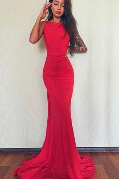 Sexy Red Prom Dress, Charming Long Prom Dress,Fashion Prom Dress,Sexy Party Dress,Custom Made Evening Dress