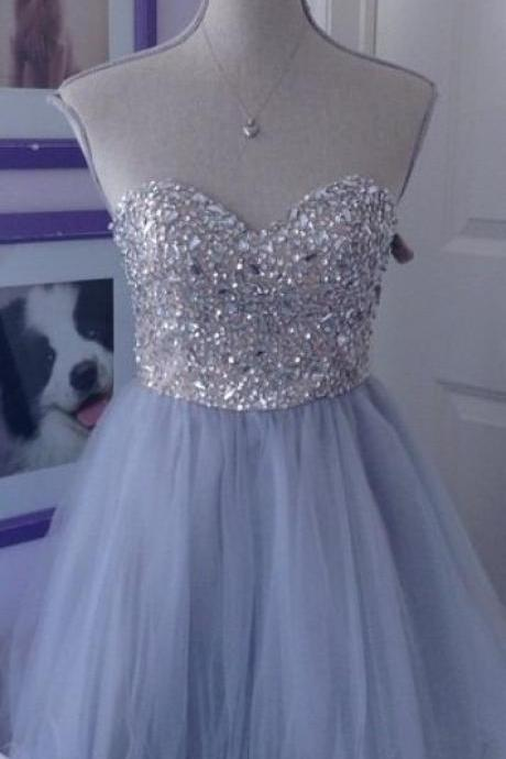 Beaded Prom Dresses, Short Homecoming Dress,Fashion Homecoming Dress,Sexy Party Dress,Custom Made Evening Dress
