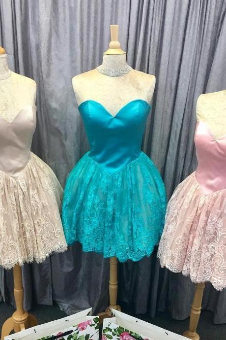 Sweetheart Prom Dress,Lace Homecoming Dress,Fashion Homecoming Dress,Sexy Party Dress,Custom Made Evening Dress