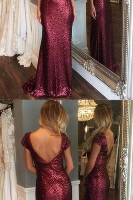 Mermaid Prom Dress,Backless Prom Dress,Fashion Prom Dress,Sexy Party Dress,Custom Made Evening Dress