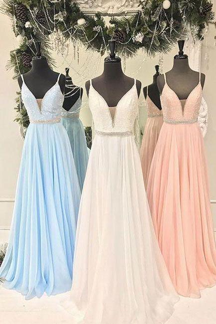 Backless Prom Dress,A Line Prom Dress,Fashion Bridesmaid Dress,Sexy Party Dress, New Style Evening Dress