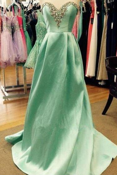 Beaded Prom Dress,Sweetheart Evening Dress,Fashion Prom Dress,Sexy Party Dress,Custom Made Evening Dress