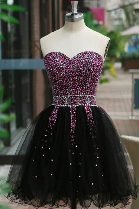 Beaded Prom Dress,Sweetheart Prom Dress,Fashion Homecoming Dress,Sexy Party Dress,Custom Made Evening Dress