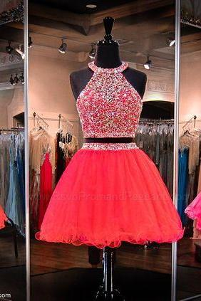 Short Crystal Homecoming Dress,Fashion Homecoming Dress,Sexy Party Dress,Custom Made Evening Dress