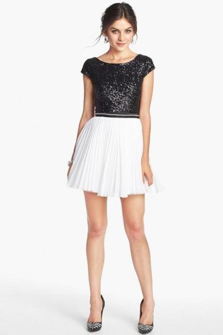 Sequins Prom Dress,Mini Homecoming Dress, Cheap Homecoming Dresses, Short Cocktail Dresses