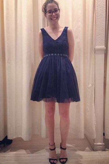 Charming Homecoming Dress,V Neck Tulle Homecoming Dress,Cheap Homecoming Dresses, Short Cocktail Dresses