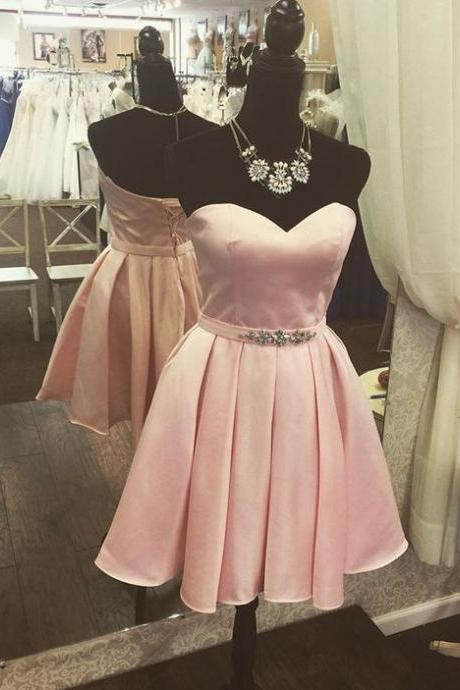 Sweetheart Prom Dresses,Beaded Prom Gown,Mini Party Dress,Cheap Homecoming Dresses, Short Cocktail Dresses