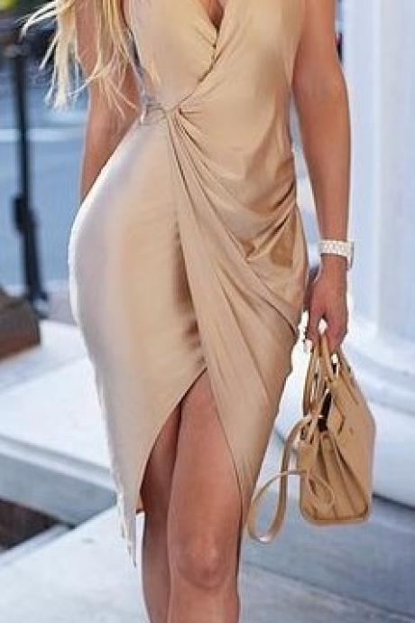 V-Neck Sexy Party Dress,Spaghetti Evening Dress,Cheap Homecoming Dresses, Short Cocktail Dresses