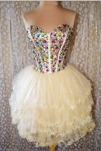 Beaded Prom Dress,Sweetheart Prom Dress,Fashion Homecoming Dress,Sexy Party Dress, New Style Evening Dress