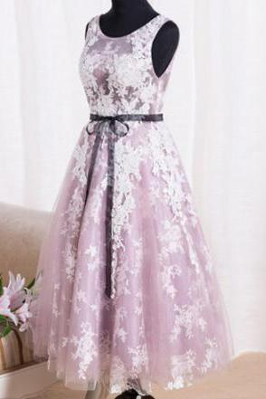Lace Homecoming Gown,Tulle Homecoming Gowns,Party Dress