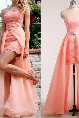 Lace Homecoming Dress,High Low Homecoming Dresses,High low Homecoming Gowns