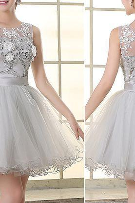 Short Homecoming Dresses,Tulle Prom Dresses,Lace Homecoming Dresses