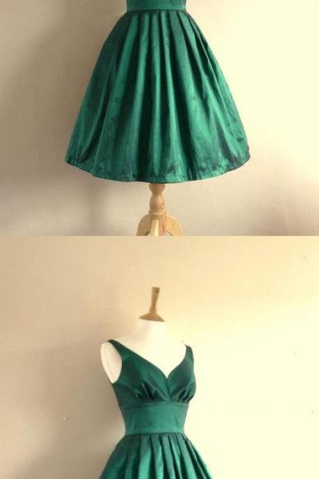 Hunter Green Homecoming Dress,Satin Homecoming Dresses,Short Prom Dress,Summer Prom Dress